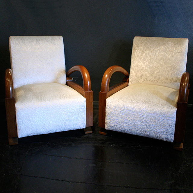 art deco arm chairs